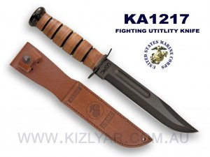 KA-BAR 1217 USMC Fighting Knife Plain Edge