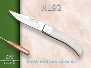 Joker Deluxe Folder/ NL-92 Polished Stag horn handle