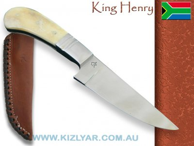 Kappetijn King Henry Hunter, D2 Steel (Camel Bone)