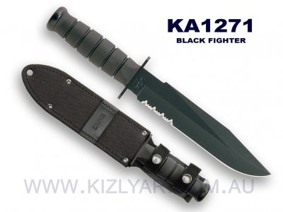 Ka-Bar 1271 Black Fighter