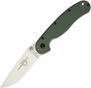 Ontario RAT II D2 Folder Green Satin finish