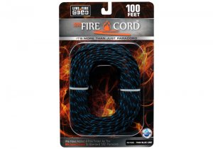 Live Fire 550 FireCord 25ft Black/Blue LF70