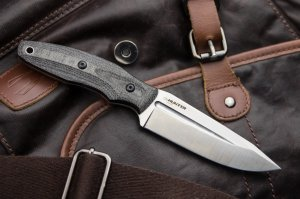 Kizlyar Supreme - City Hunter Aus8 Satin Finish, Micarta handle