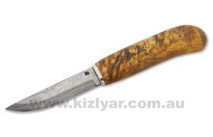 H.Roselli R310P Damascus Carpenters Knife In Wooden Gift Box