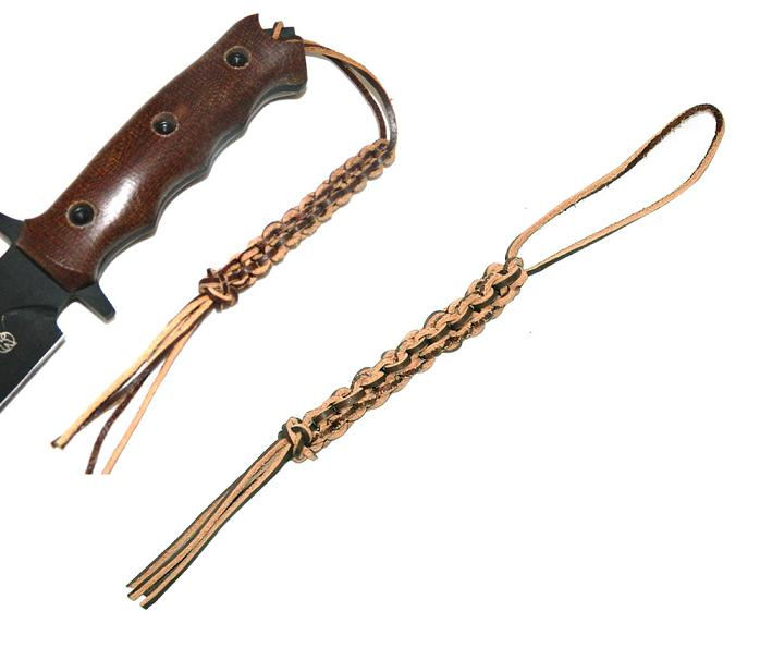 Braided leather knife lanyard knife lanyard braided