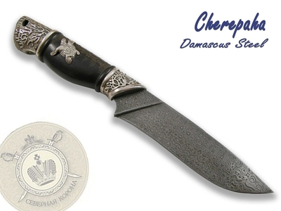 North Crown Knives - Cherepaha (Turtle) Damascus Steel