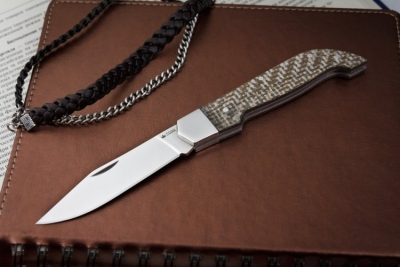 Kizlyar Supreme - Karbuk AUS8 Polished Finish. Micarta