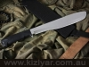 Kizlyar Kayman Polished, Elastron Handle Short Military Machete
