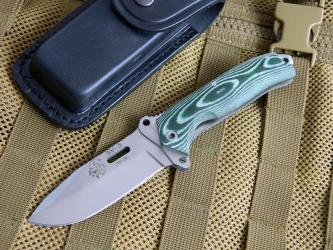 J & V Adventure Knives - SV 3 / TAC. Green Micarta