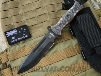 J & V Adventure Knives - Combat, Military knife - Black