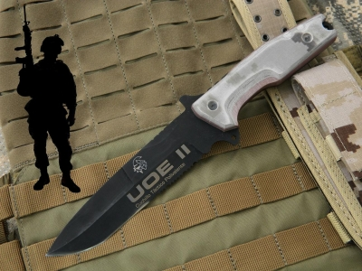J & V Adventure Knives - UOE II Tactical combat knife