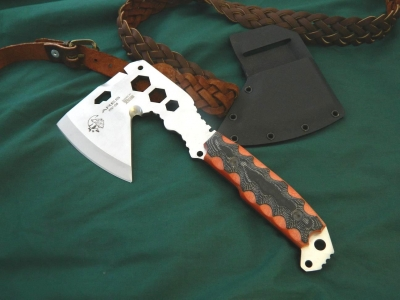 J & V Adventure Knives - Ares, Multifuntion camping/Survival Axe