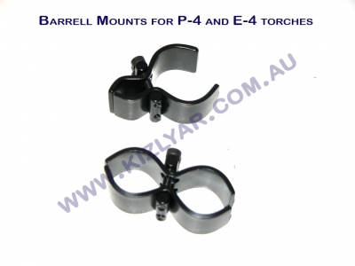 "Barrel Mount Steel. 2-piece, to fit most 1""-28mm torches"