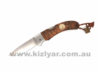 Karesuando 3617 Singi Folding Knife Brown