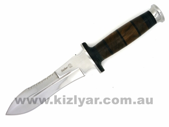 Kizlyar Stalker Combat Hunting Dagger - Wood Handle
