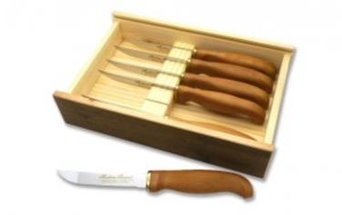 Marttiini Gourmet Steak Knives With Wood Gift Box 6pc 1440016