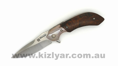 Olamic Cutlery Wayfarer Compact WC281: Mokume/Ironwood