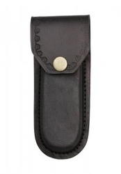 "Leather Belt Pouch 5"" - Black PA3326BK"