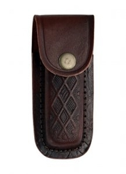 "Leather Belt Pouch 4"" - Brown PA31164"
