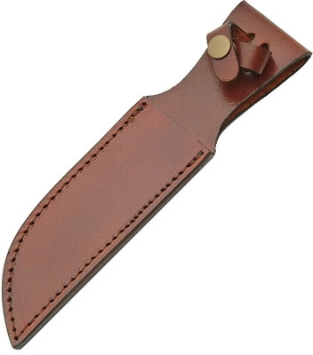 "Leather Fixed Blade Belt Sheath 6"" - Brown SH1162"