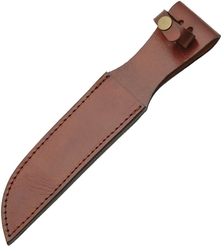 "Leather Fixed Blade Belt Sheath 7"" - Brown SH1163"