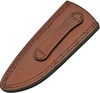 "Leather Clip Point Fixed Blade Sheath 9"" - Brown PA660609"