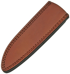"Leather Clip Point Fixed Blade Sheath 10.5"" - Brown PA660610"