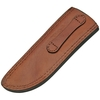 "Leather Drop Point Fixed Blade Sheath 10.5"" - Brown PA660710"