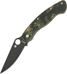 Spyderco Military Model Camo Black Blade C36GPCMOBK