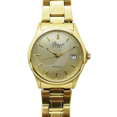 Bonett 836D Watch Stainless Steel IPG Plated Gold