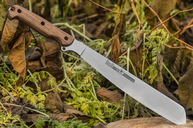 Kizlyar Supreme - Bushmate machete AUS-8 Convex, Walnut handle