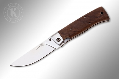 Kizlyar NSK Sterkh Folding Knife Walnut Handle with steel guard