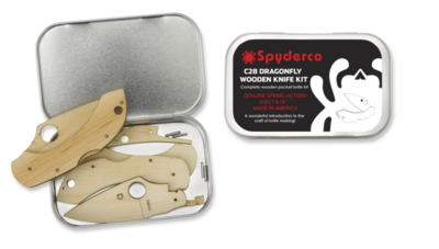 Spyderco Dragonfly C28 Wooden Knife Kit
