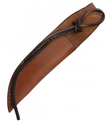 "Leather Fixed Blade Belt Sheath with Lanyard 6"" - Brown SH1158"