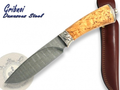 North Crown Knives - Gribnoi Damascus Steel