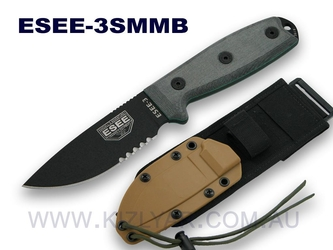 ESEE Model 3 (Half Serrated) - ES3SMMB