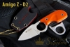Kizlyar Supreme - Amigo Z D2 Steel (Satin finish) Hi-Vis Orange
