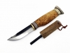 Wood Jewel Knife with firesteel 23J
